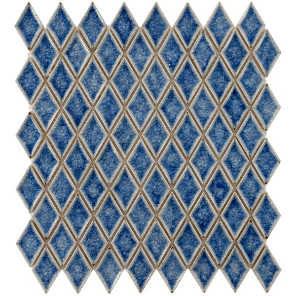 Interval 1 x 2 Ceramic Mosaic Tile in Azure Blue by EliteTile
