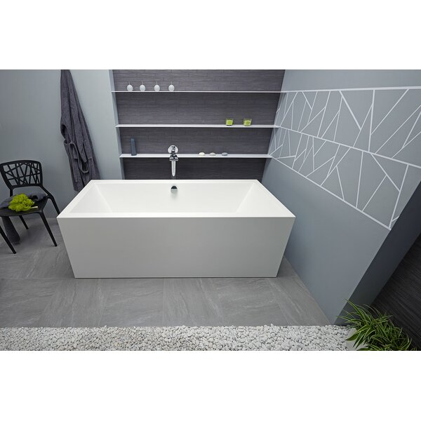 Continental-Wht™ 70.75 x 31.5 Freestanding Soaking Bathtub by Aquatica