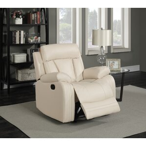 Martha Leather Manual Glider Recliner by Red Barrel Studio