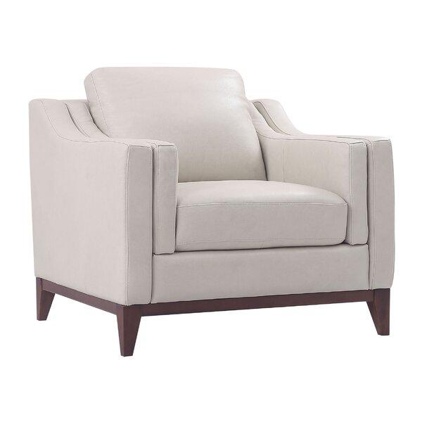 Casleton Top Grain Leather Club Chair by Brayden Studio