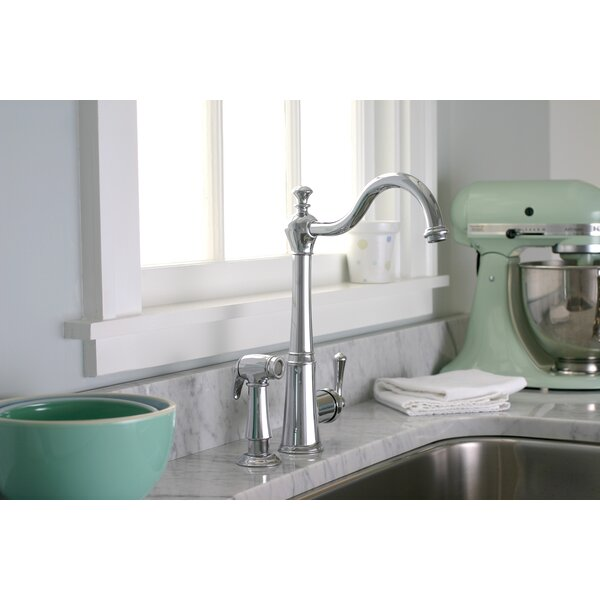 Sonoma Single Handle Kitchen Faucet with Side Spray by Premier Faucet