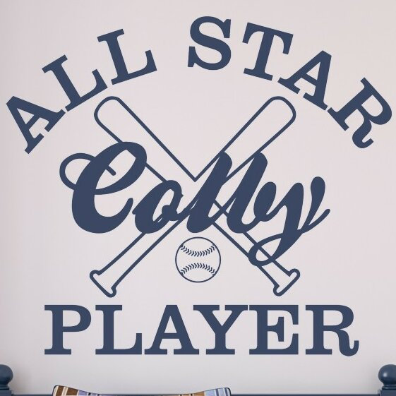 Personalized All Star Player Wall Decal by Alphabet Garden Designs