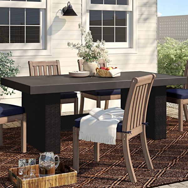 Fernando Wicker Dining Table by Sol 72 Outdoor