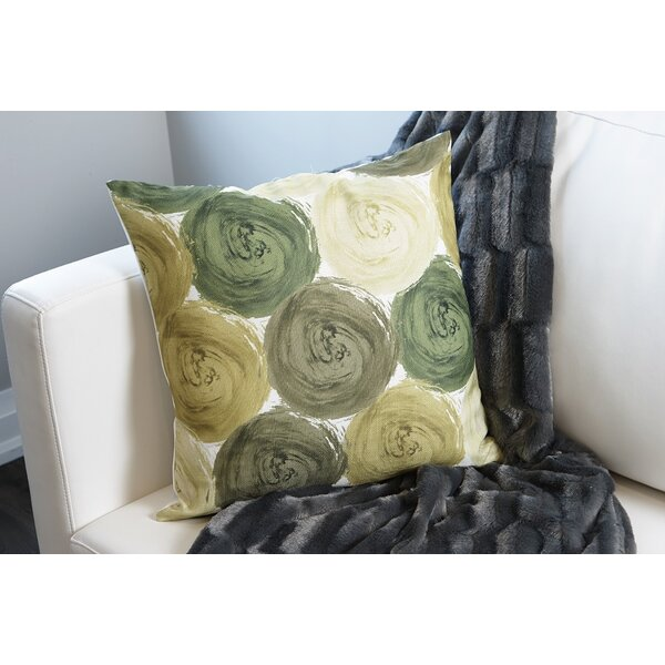 Impasto Circles Throw Pillow by Flato Home Products