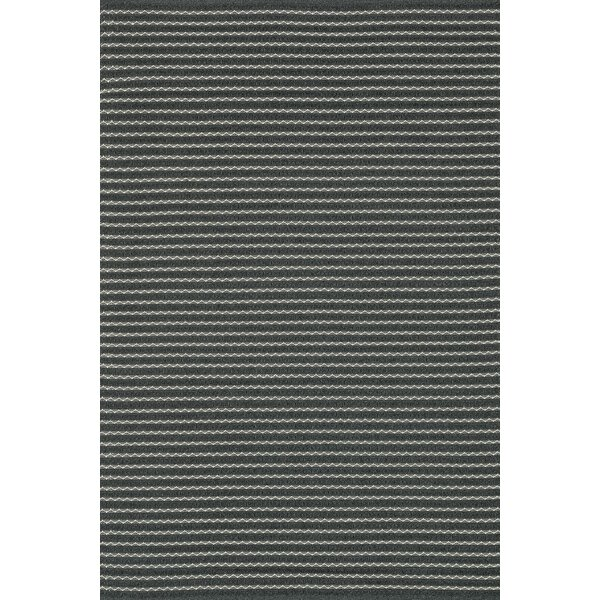 Kirchoff Hand-Woven Charcoal Indoor/Outdoor Area Rug by Charlton Home