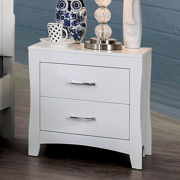 Woodley 2 Drawer Nightstand by Alcott Hill