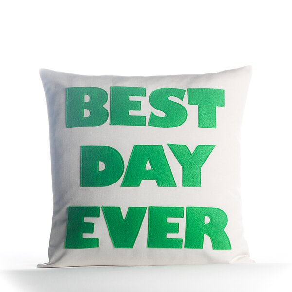 Best Day Ever Outdoor Throw Pillow by Alexandra Ferguson