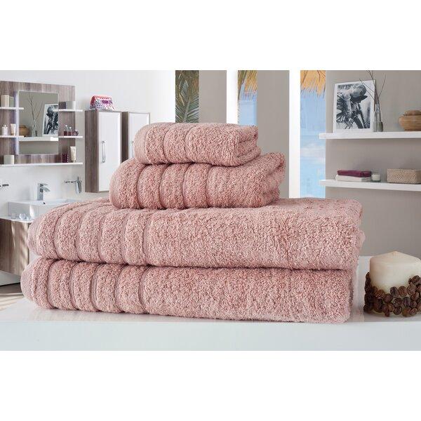Barnum 4 Piece Turkish Cotton Towel Set by Makroteks Textile L.L.C.