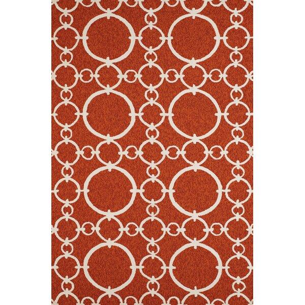 Chainweaver Hand-Woven Terracotta Indoor/Outdoor Area Rug by Panama Jack Home