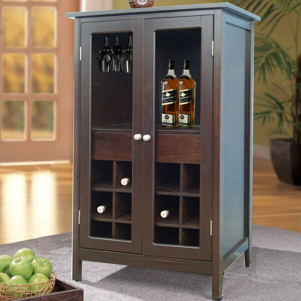 Hauck 12 Bottle Floor Wine Cabinet by Charlton Home Charlton Home