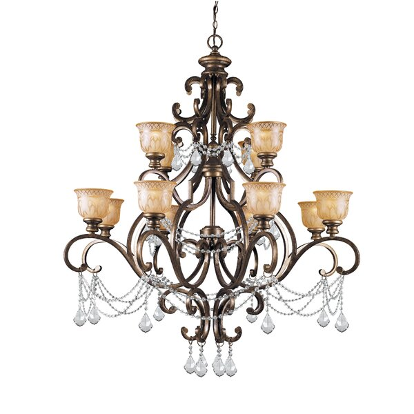 Bahr 12-Light Shaded Chandelier by Astoria Grand