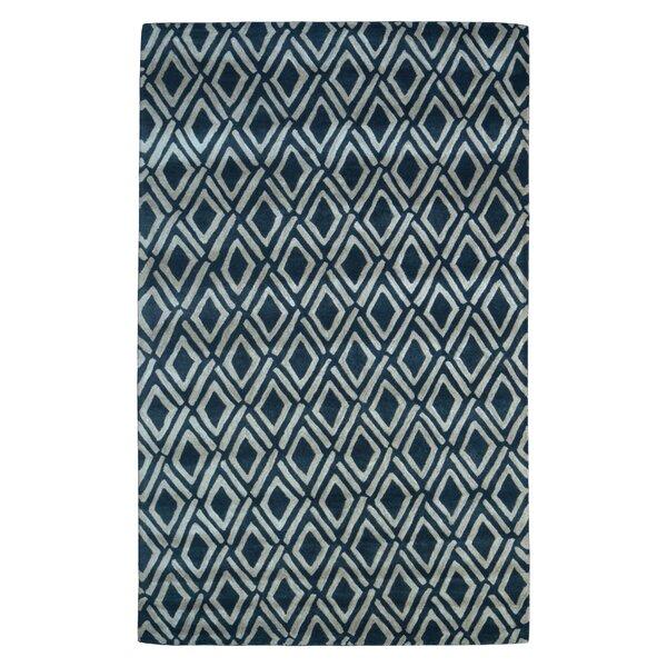 Wool Hand-Tufted Black/Ivory Area Rug by Eastern Weavers