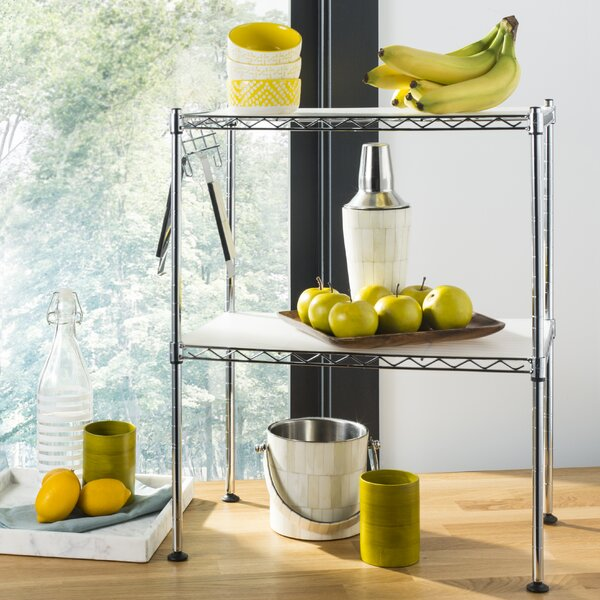 Melissa 23.6 H x 19.7 W 2-Tier Storage Rack by happimess