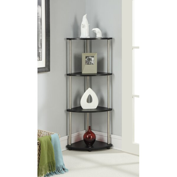 Nova 4 Tier Corner Unit Bookcase by Zipcode Design