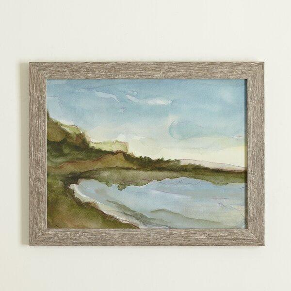 Seascape Watercolor Framed Print by Birch Lane™