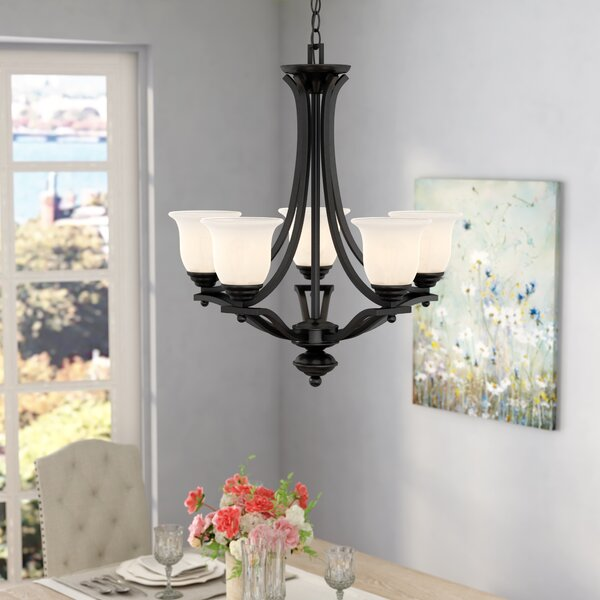 Weyer 5 - Light Shaded Empire Chandelier By Winston Porter