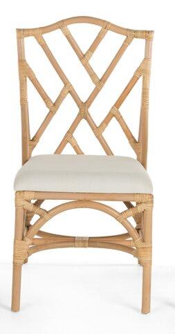 Margrett Cotton Rattan Cross Back Side Chair (Set Of 2) By Bayou Breeze