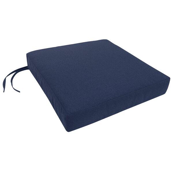 Knife Edge Indoor/Outdoor Sunbrella Dining Chair Cushion by Three Posts