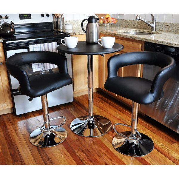 Southampton Modern Curvey 3 Piece Pub Table Set by Latitude Run