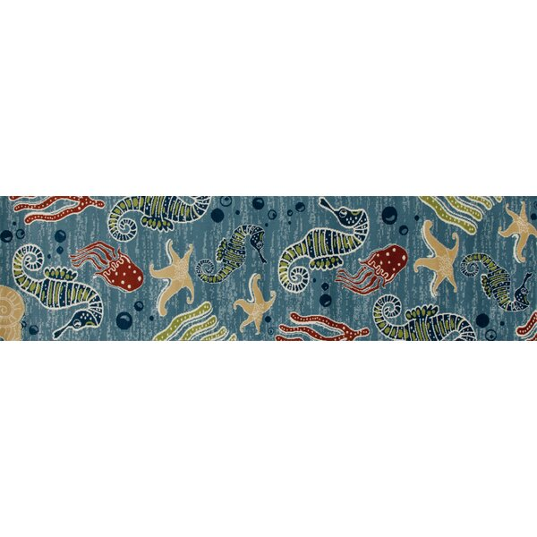 Ceasar Deep Sea Indoor/Outdoor Area Rug by Highland Dunes