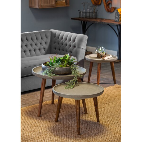 Nelya 3 Piece End Table Set by 17 Stories