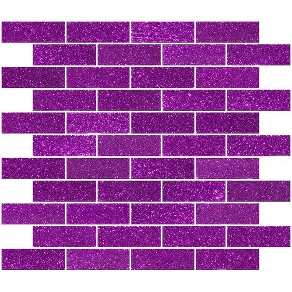 1 x 3 Glass Subway Tile in Purple Violet by Susan Jablon