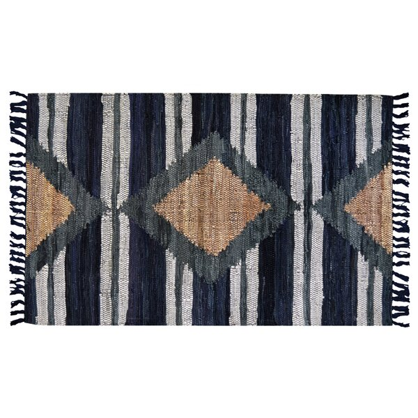 Monterey Hand-Woven Cotton Blue Area Rug by Union Rustic