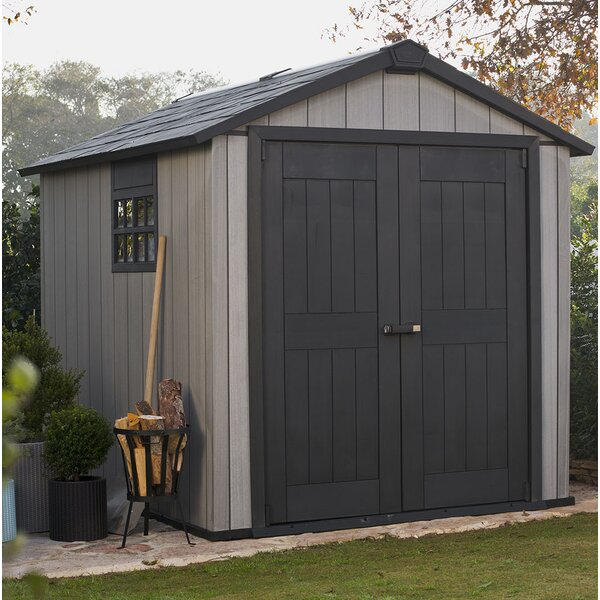 Oakland 7 ft. 6 in. W x 9 ft. 5 in. D Plastic Storage Shed by Keter