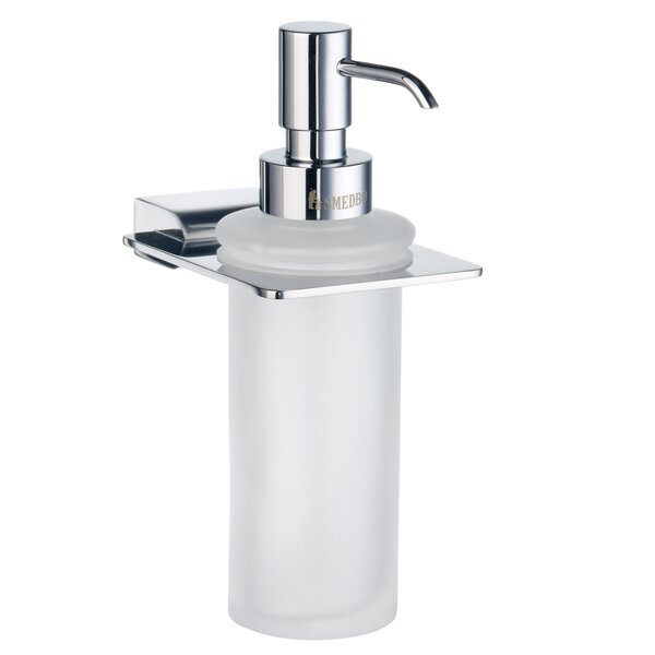 Spa Holder with Glass Soap Dispenser by Smedbo