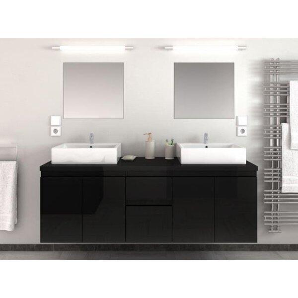 Porthleven 59 Wall-Mounted Double Bathroom Vanity