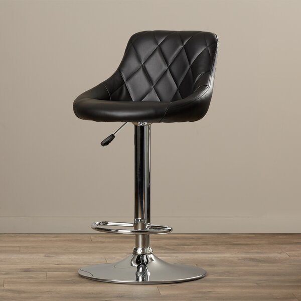 Clay Adjustable Height Swivel Bar Stool by Wade Logan