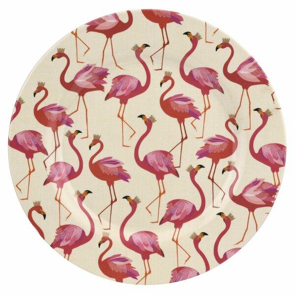 Flamingo 4 Piece Melamine Dinner Plates Set by Portmeirion
