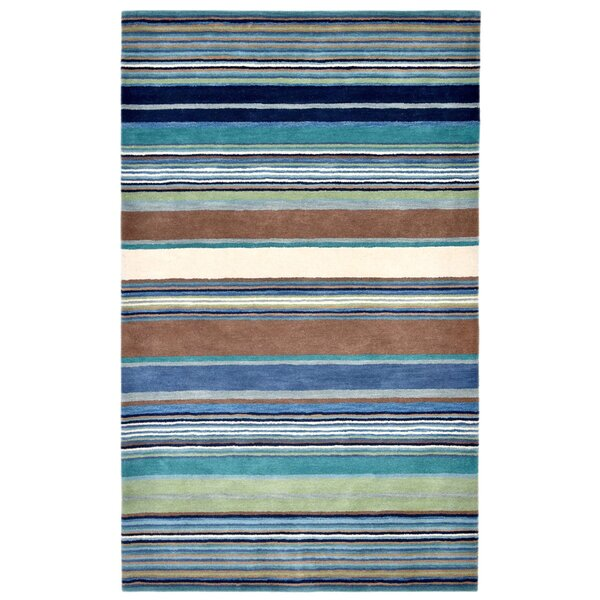 Varley Hand-Tufted Blue Area Rug by Latitude Run