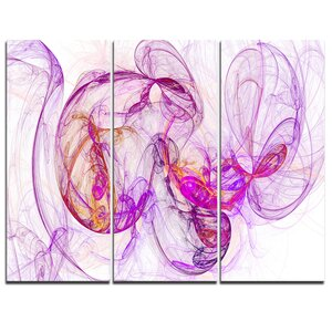 Billowing Smoke Magenta Graphic Art on Wrapped Canvas by Design Art