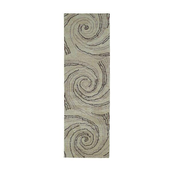Cardi Hand-Tufted Wool Sand Area Rug by Orren Ellis
