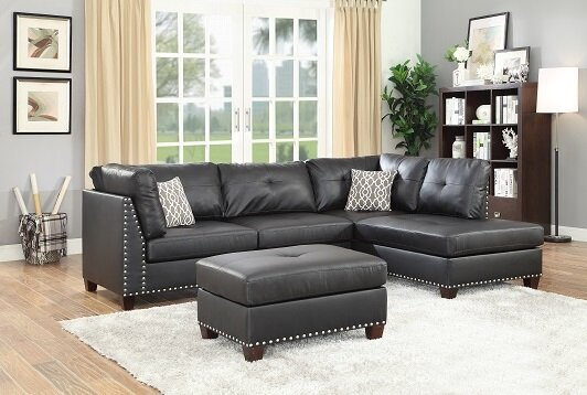Draco Sectional with Ottoman by Alcott Hill