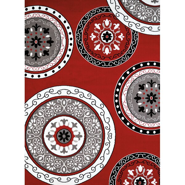 Allenville Red/Brown Area Rug by Winston Porter