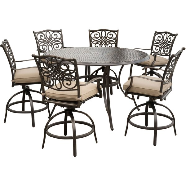 Lauritsen 7 Piece Bar Set with Cushions by Three Posts