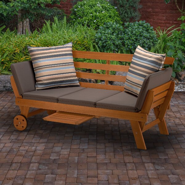 Emmet Patio Daybed with Cushions by Union Rustic