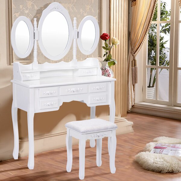 Courtney Vanity Set with Mirror by Astoria Grand Astoria Grand