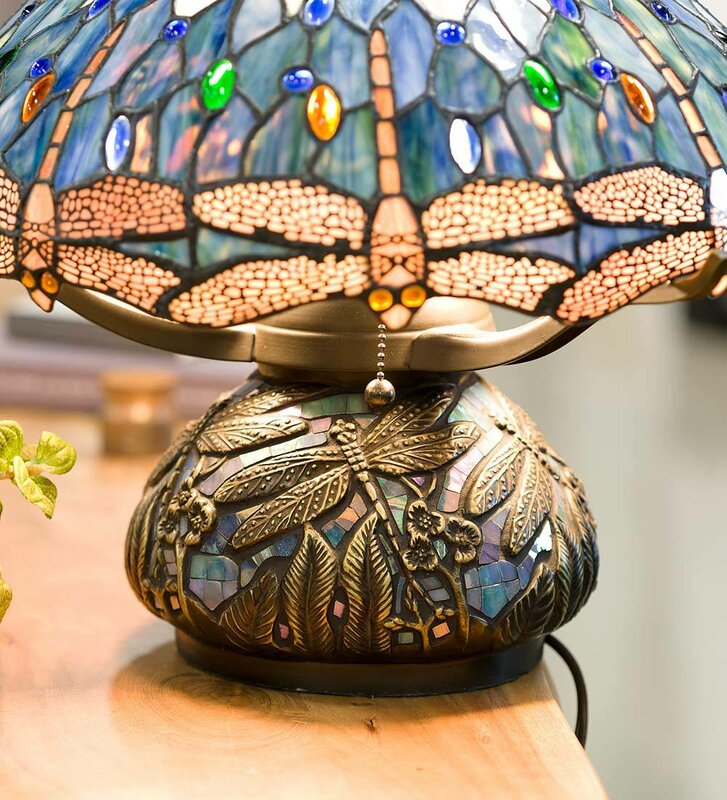 Dragonfly Stained Glass Lamp Shade Tiffany Style Chandeliers Tiffany Style  Dragonfly Table Lamp Tiffany Ceiling Lamps
