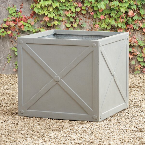 Fibreclay Cube Concrete Planter Box by Napa Home and Garden