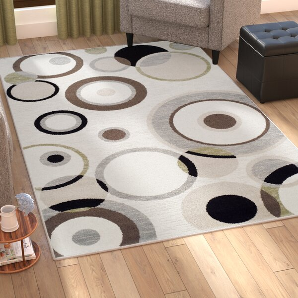 Bryleigh Cream/Black Area Rug by Zipcode Design
