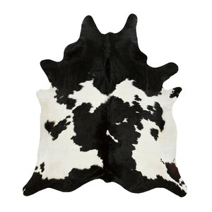 Byron Black & White Cowhide