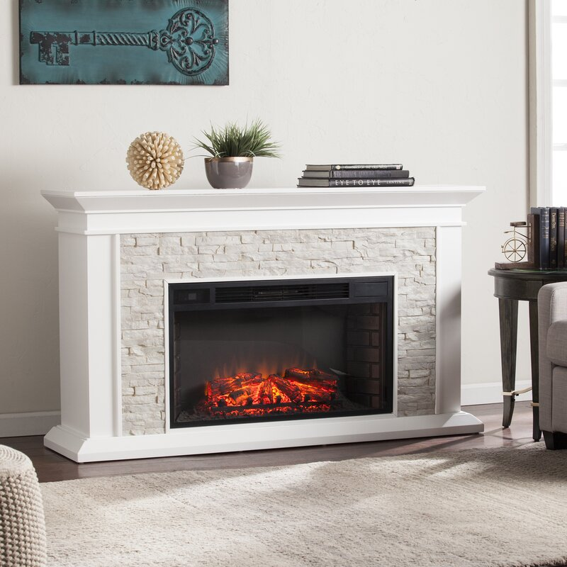 Attractive Simulated Electric Fireplace