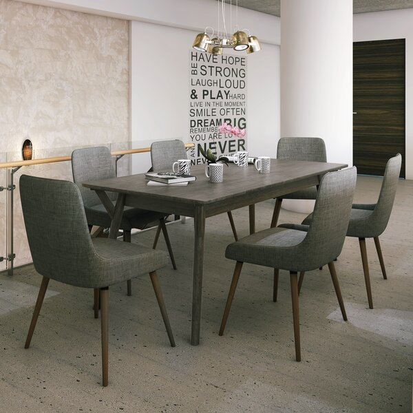 Chelmsford 7 Piece Solid Wood Dining Set by Latitude Run