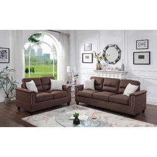 Gebriel 2 Piece Living Room Set by Ebern Designs