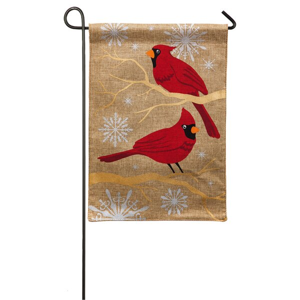 Feathers and Snow Garden Flag by Evergreen Enterprises, Inc