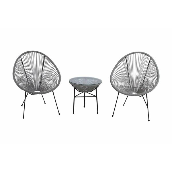 Bovina Sun Oval Patio Chair (Set of 3) by Ivy Bronx