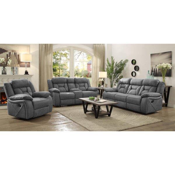 Free S&H Estevao Motion 3 Piece Reclining Living Room Set